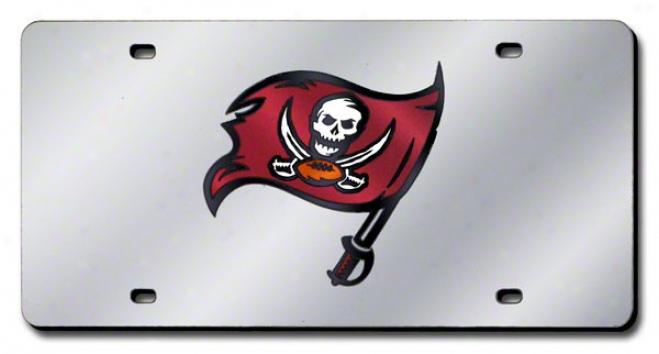 Tampa Bay Buccaneers Lifense Plate Laser Tag