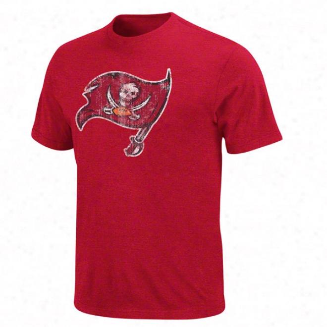 Tampa Bay Buccaneers Red Vintage Logo Iii T-shirt
