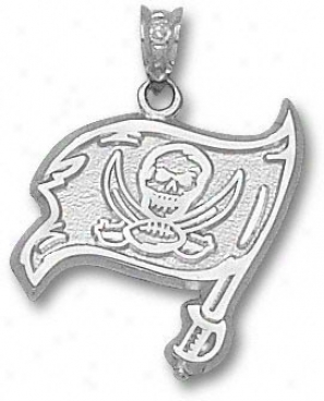 Tampa Bay Buccaneers Sterling Silver Flag 3/4'' Pendant