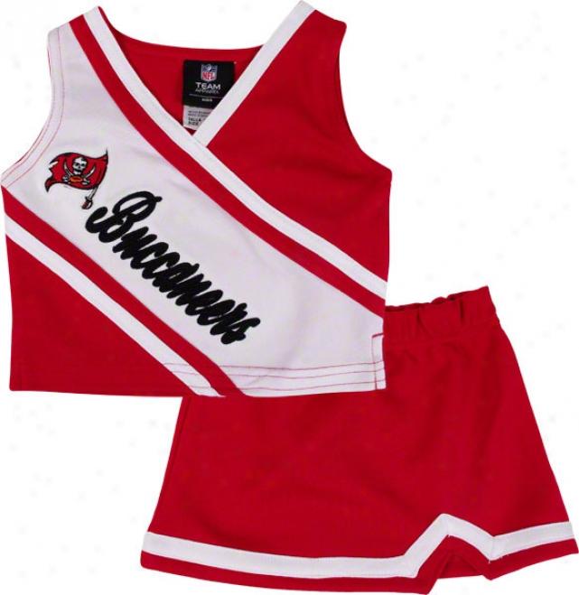 Tampa Bay Buccaneers Todler 2-piece Cheerleader Set