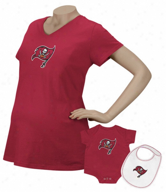 Tampa Bay-tree Buccaneers Women's Logo Premier Too Maternity T-shirt/infant Contrive