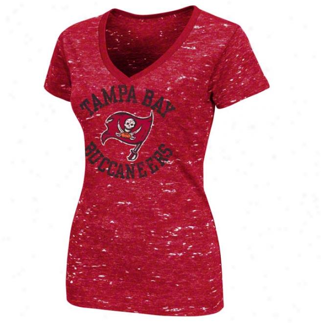 Tampa Bay Buccaneers Women's Pride Playing Ii Red Short Sleeve Top