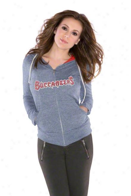 Tampa Bay Buccaneers Women's Tried And True Tri-blend Full-zip Hoodie - By Alyssa Milano