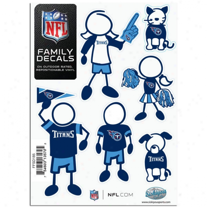 Tennessee Titans Family Decal Feeble Package