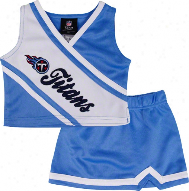 Tennessee Titans Girl's 4-6 Two-piece Cheerleader Set
