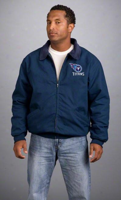 Tennessee Titans Jacket: Navy Reebok Saglnaw Jacket