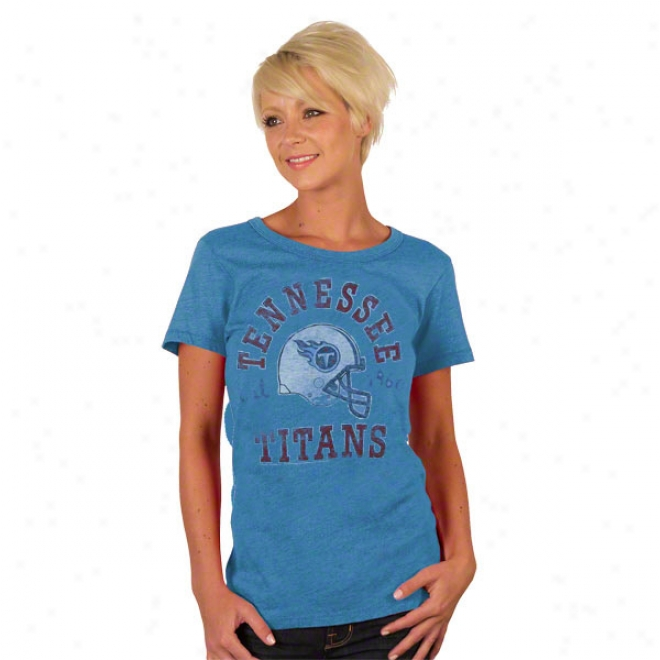 Tennessee Titans Solid Vintage Helmet Women's T-shirt