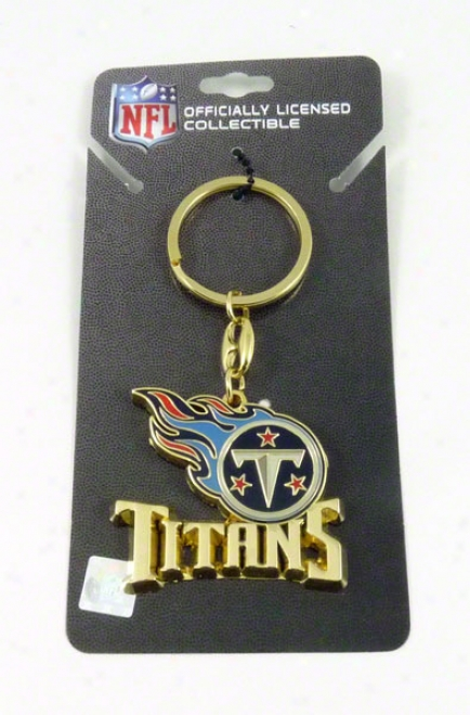 Tennessee Titans Team Logo Heavyseight Keyring