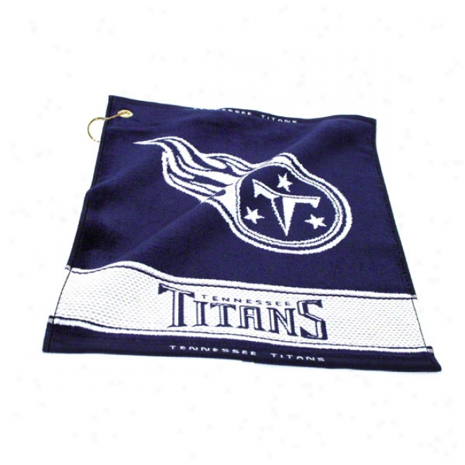 Tennessee Titans Woven Golf Towel