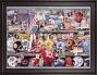 Framed Canvaa 36 X 48 Super Bowl Xxv Prkgram Print  Details: 1991, Giants Vs Bills