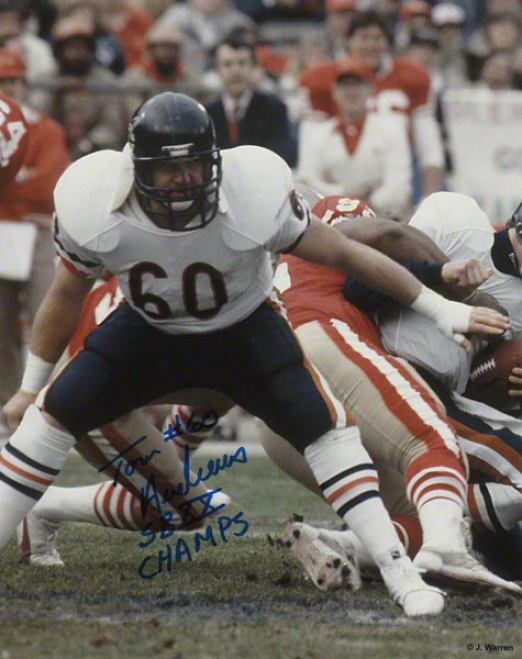 Tom Andrews Chicago Bears - Action - Autographed 8x10 Photograph