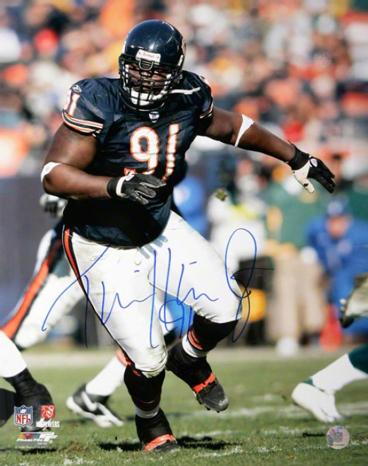 Tommie Harris Chicago Bears - Action - Autographed 16x20 Photo