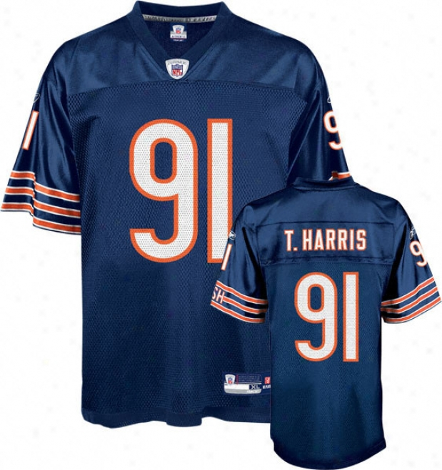 Tommie Harris Jersey: Reebok Navy Replica #91 Chicago Bears Jersey