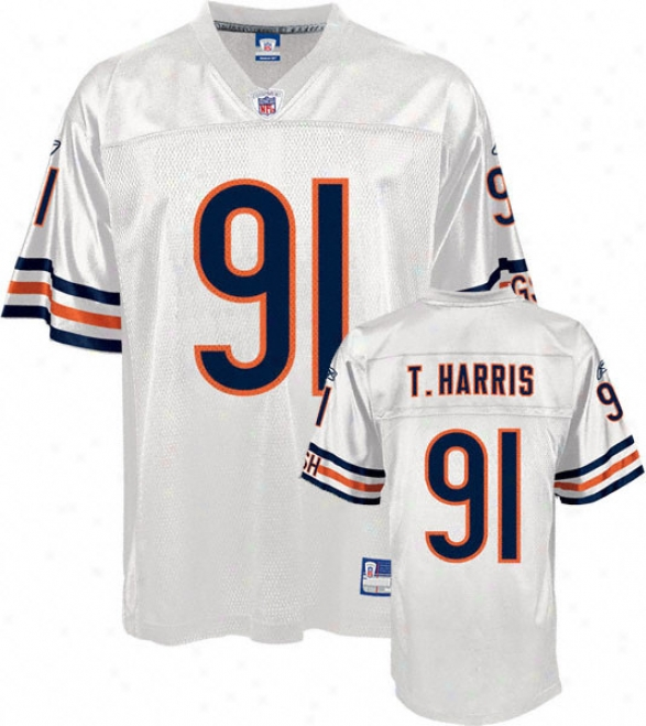 Tommie Harris Jersey: Reebok White Autograph copy #91 Chicago Bears Jersey