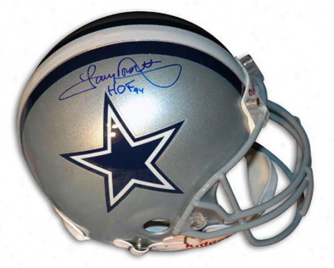 Tony Dorsett Autographed Pro-line Helmet  Details: Dallas Cowboys, With ''of 94'' Inscription, Authentic Riddell Helmet