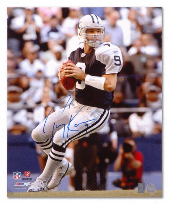 Tony Romo Dallas Cowboys - Looking To Pass - Autographed 16x20 Photograph
