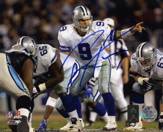 Tony Romo Dallas Cowboys - Inferior to Center - Autogrwphed 8x10 Photo