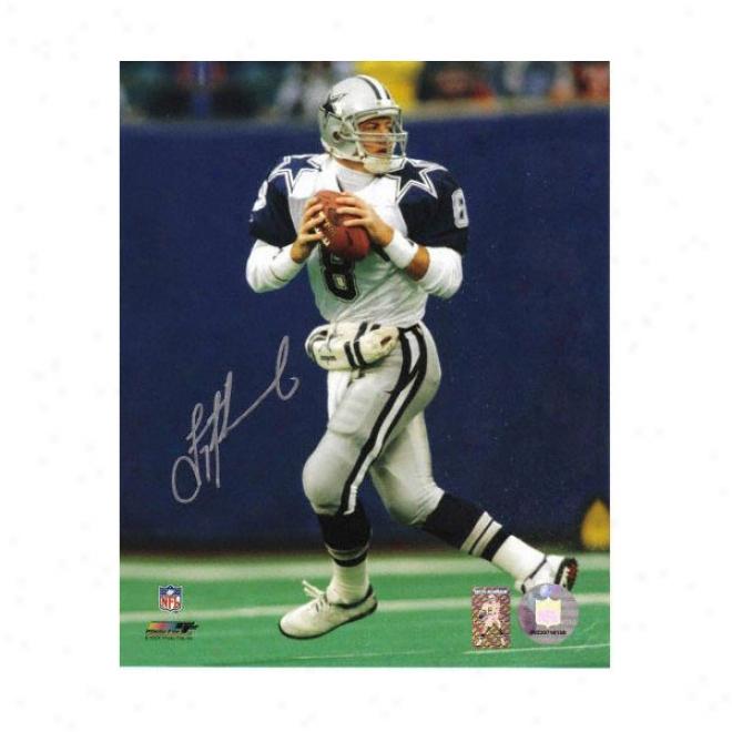 Troy Aikman Dallas Cowboys - 2 Star Jersey - Autographed 8x10 Photograph