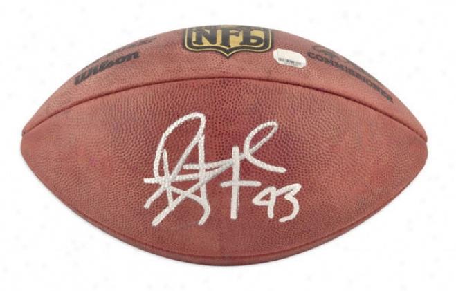 Troy Polamalu Autographed Football  Details: Pittsburgh Steelers, Pro Football