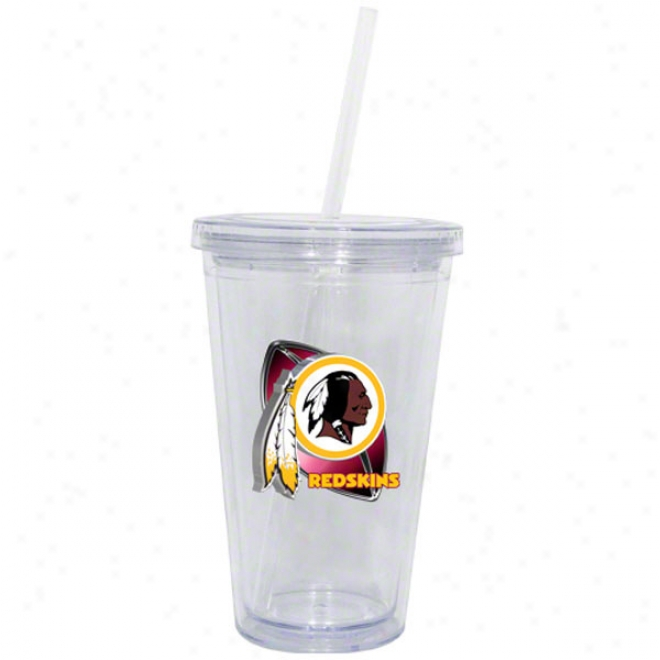Washington Redskins Double Wall Tumbler Withh Straw