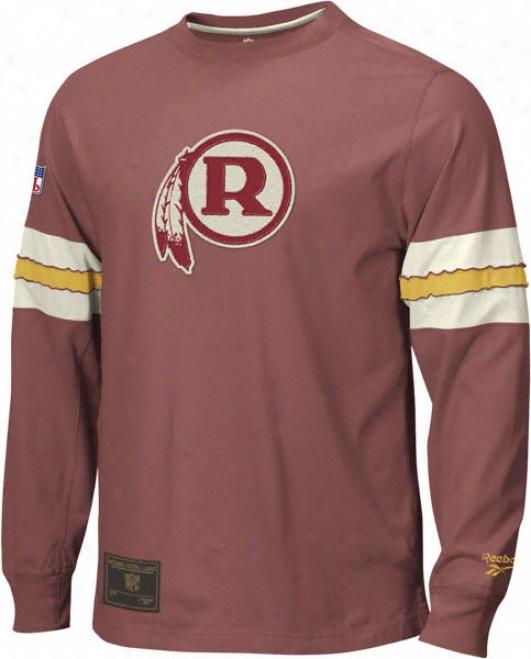 Washington Redskins Gridiron Classics Throwback Logo Long Sleeve Jersey Crew