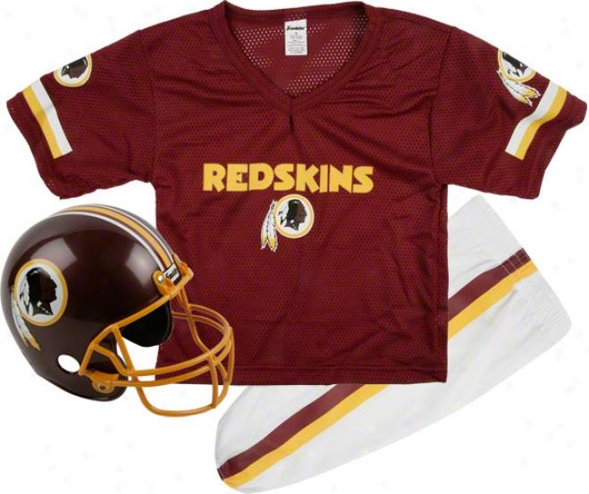 Washington Redskins Kids/youth Football Helmet Uniform Set