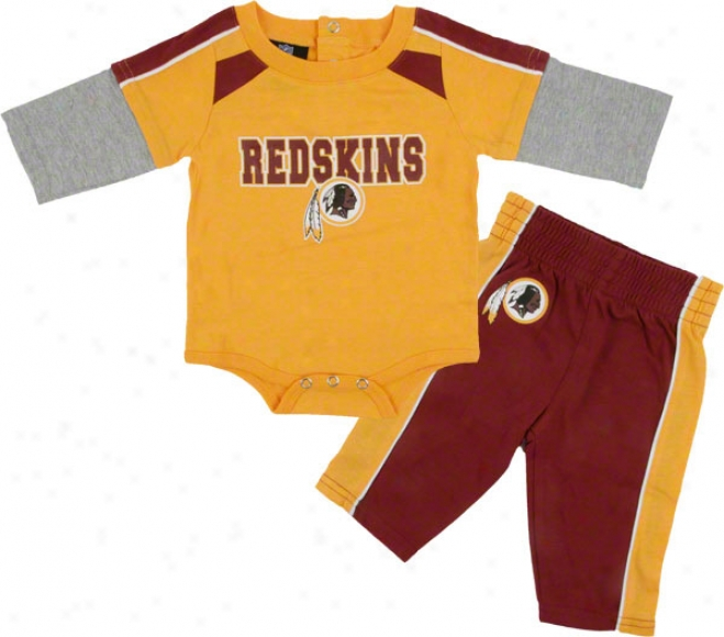 Washington Redskins Newborn Long Sleeve Creeer And Pants Set