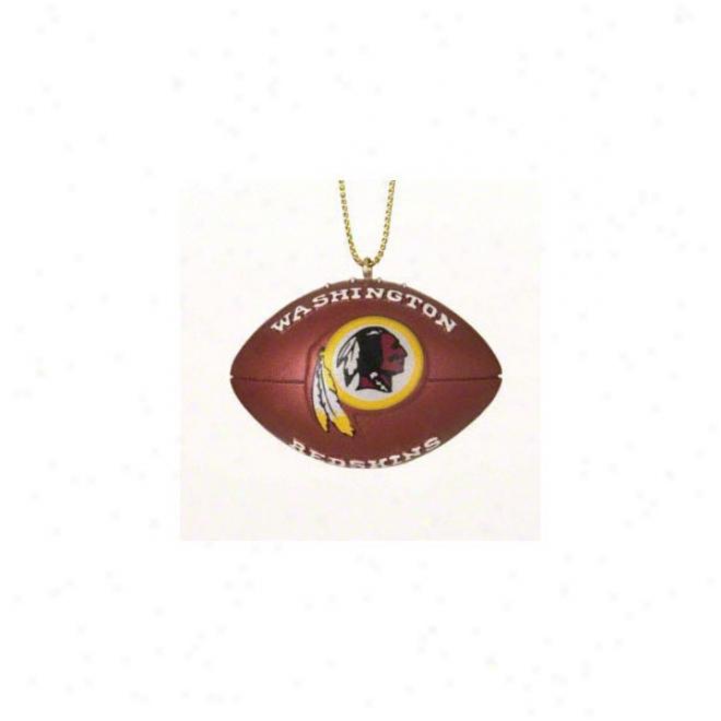 Washington Redskins Resin Football Ornament