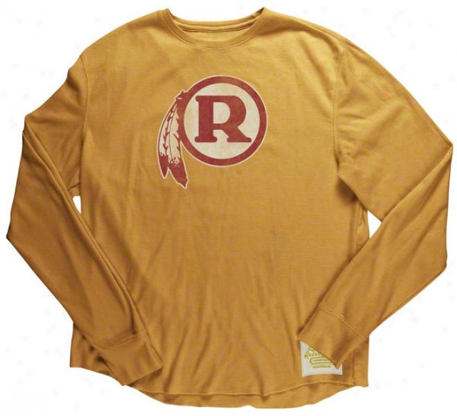 Washington Redskins Retro Sport Bigger Better Retro Logo Warm Long Sleeve T-shirt