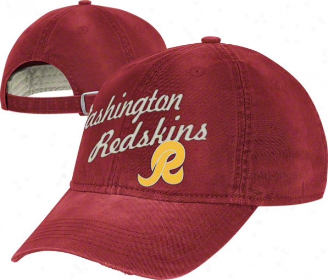 Washington Redskins Vintage Hat: Lifestyle Clownish gait Adjuetable Hat