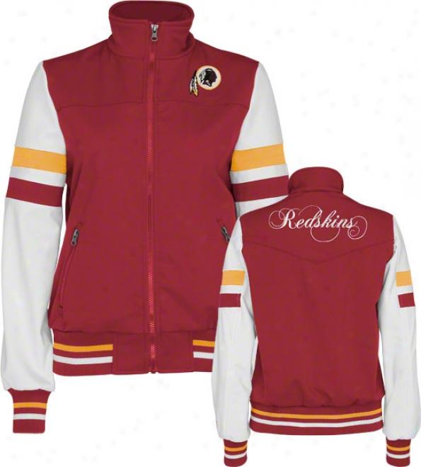 Washington Redskins Women's Full-zip Color-blocked Polyester Softshell Jacket