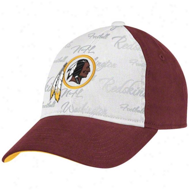 Washington Redskins Women's Hat: Foil Print Adjustable Hat