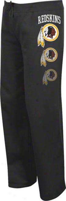 Washington Redskins Women's Lateral Spirit Ii Black Fleece Pants