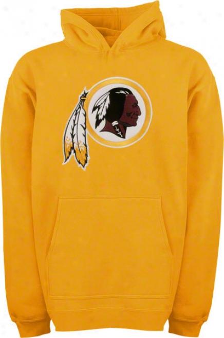 Washington Redskins Youth Gold Big Logo Hooded Sweatshirt