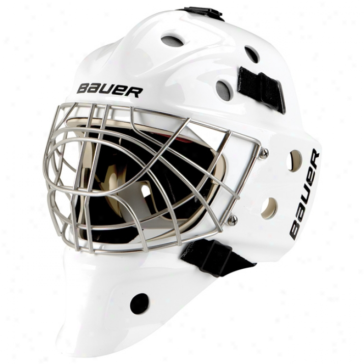 Bauer Nme 9 Pro Titanium Goalie Mask - Certified Cat Eye
