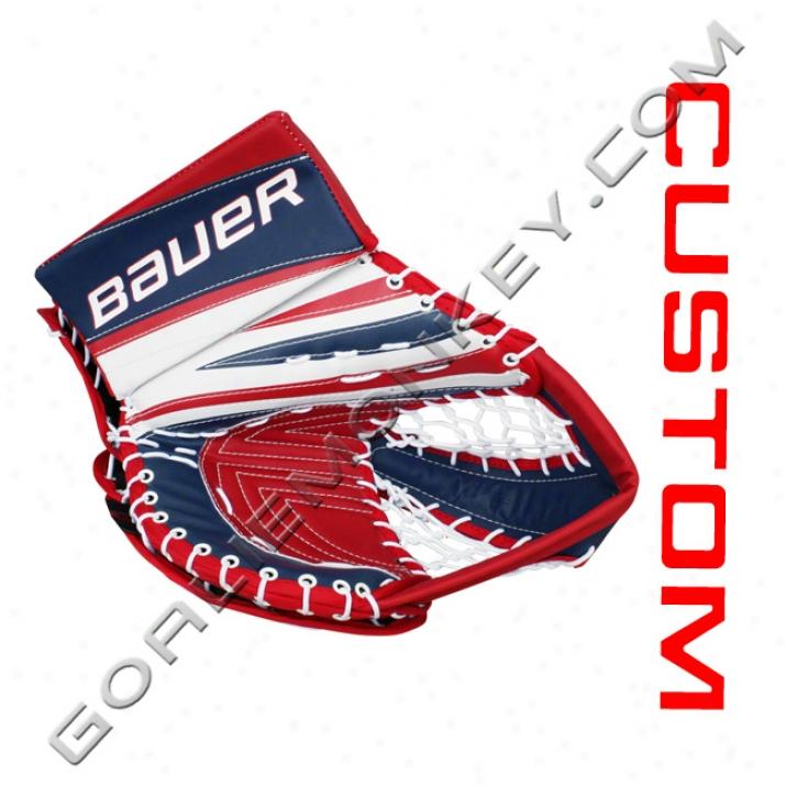 Bauer Re-flex Rx10 'finnish Style' Cystom Pro Goalie Glove