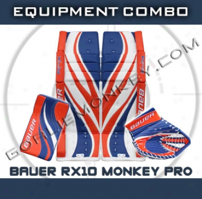 Bauer Re-flex Rx10 Monkey Special Edition Pro Goalie Eqquipment Combo