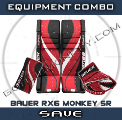 Bauer Re-flex Rx6 Monkey Special Impression Sr. Goalie Equipment Combo