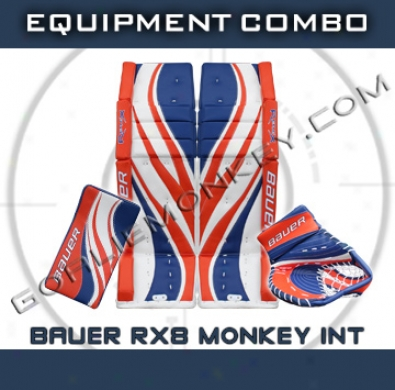 Bauer Re-flex Rx8 Monkey Special Edition Int. Goalie Equipment Combo