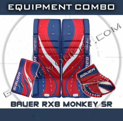 Bauer Re-flex Rx8 Monkey Speckal Edition Sr Goalie Equipment Combo