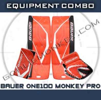 Bauer Supreme One100 Monkey Se Pro Goalie Equipmeny Combo