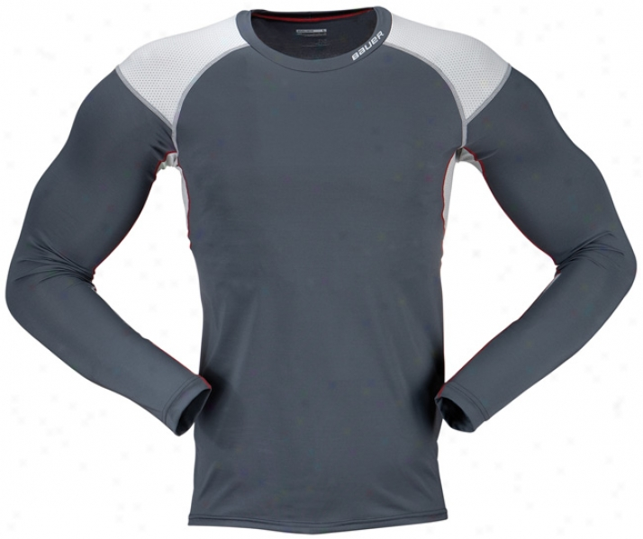 Bauer Vapor Core Compression Yth. Long Sleeve Crew