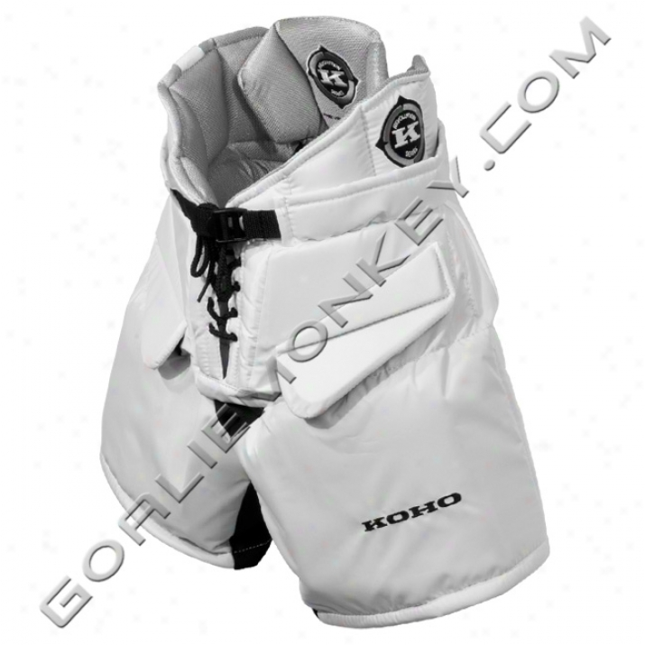 Koho Revolution Jr. Goalie Pants - White