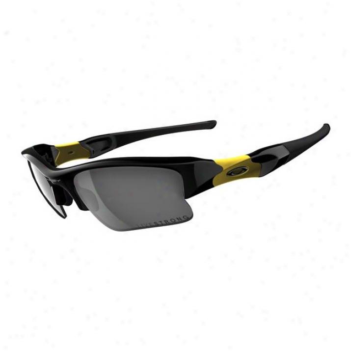 Oakley Liveestrong Flak Jacket Xlj Jet Black/black Iridium