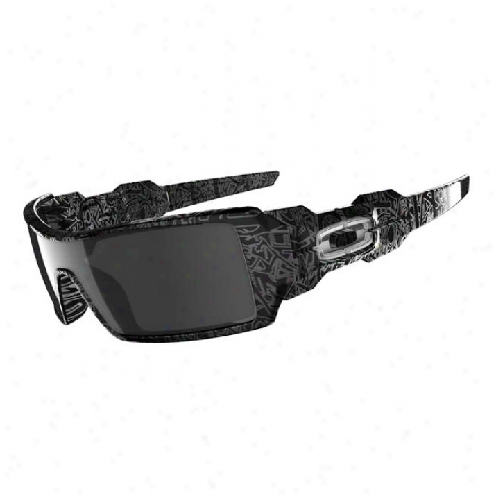Oakley Ojl Rig Polished Black/silver Ghos5 Text/black Iridium