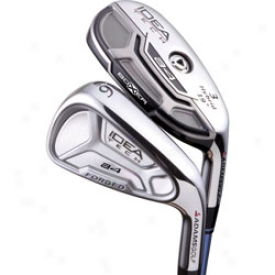 Adams Pre-owned Idea Tech A4 Iron Set 3h,4h, 5-pw Wlth Steel Shafts