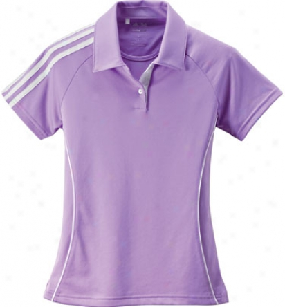 Adidas Junior Girls Climalite 3-stripes Piped Polo