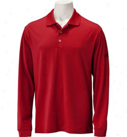 Adidas Mens Climalite 3-stripes Long-sleev3 Poko
