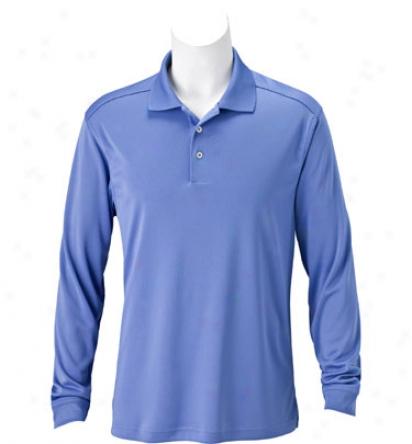 Adidas Mens Climalite Jersey Long Sleeve Polo