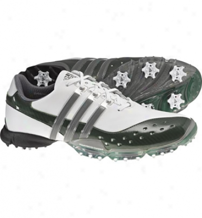 Adidas Mens Powerband 3.0 Golf Shoes (white/prk/dark Silver Metallic)
